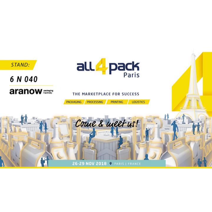 Machines Aranow au salon All4Pack Paris 2018