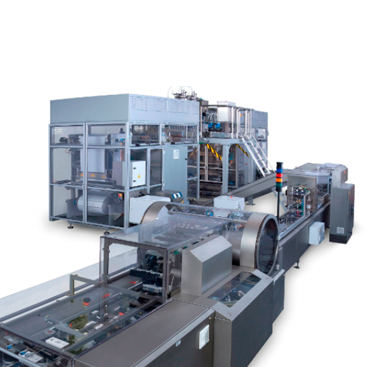 High production machinery with lowered operational costs for pharmaceutical products