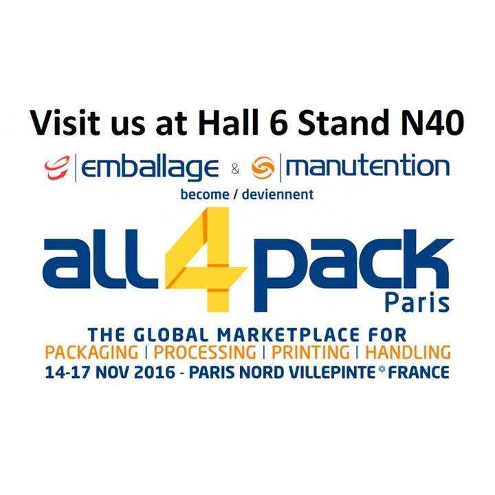 All4Pack París 2016, l'antiga fira Emballage, comptarà amb maquinària d'ARANOW